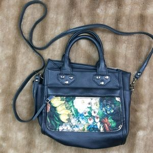 Like new floral purse - cross body and hand bag